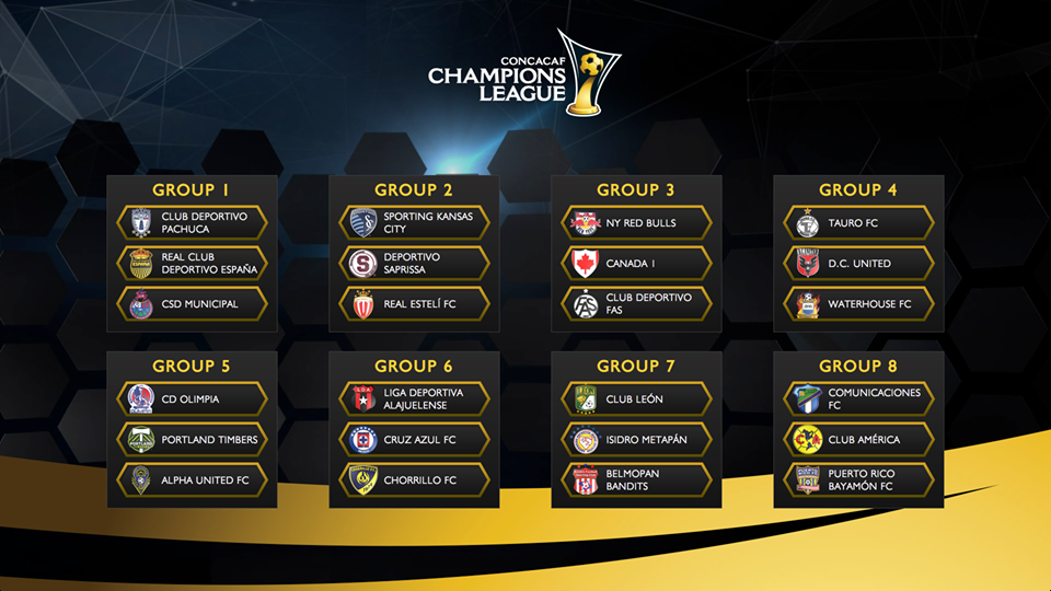 concacaf champions league group stage announced for 2014 2015 edition haiti tempo concacaf champions league group stage