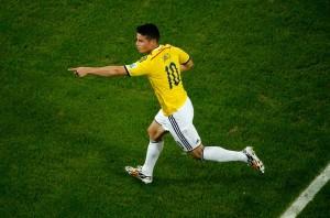 James Rodriguez de la Colombie