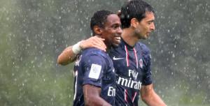 La joie de Jean-Eudes Maurice après un but avec PSG