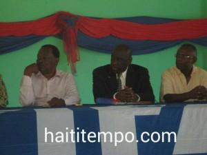 Yves Jean-Bart, le ministre Jimmy Albert et Pierre-Andre Mirville