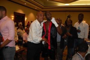 Franky et le président de la République, Joseph Michel Martelly